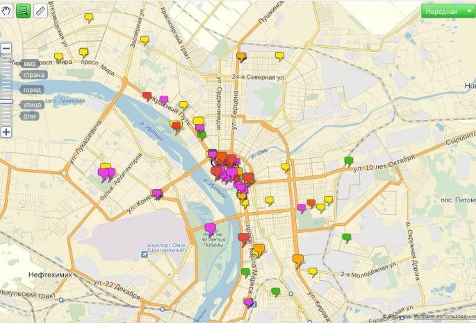 В Омске нанесли на карту все события к 300-летию города
