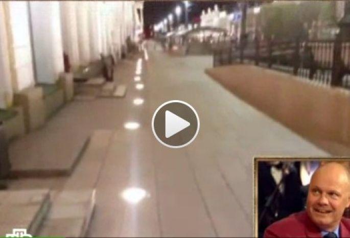 «Слегка пьяные» фонари вцентре Омска стали объектом насмешек наНТВ