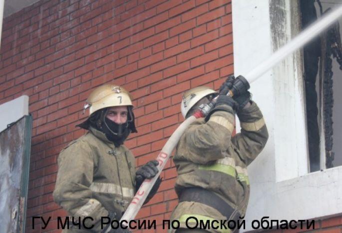 ВОмске впожаре в личном доме умер 43-летний мужчина