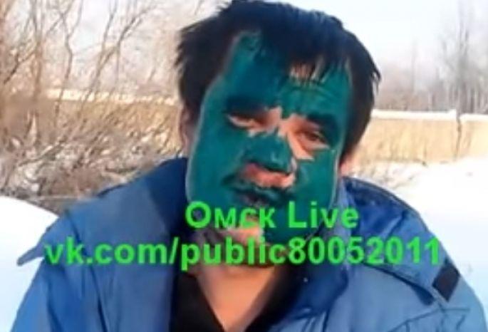 ВОмске завершили следствие поделу измазанного зеленкой пассажира