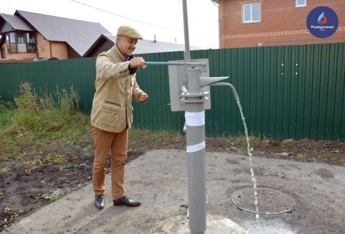 ВОмске установили неповторимую водоразборную колонку