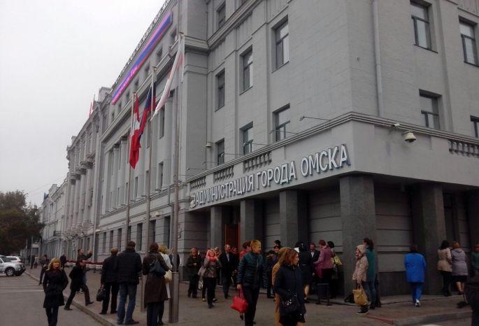 Вдень выборов избирком эвакуировали изздания мэрии Омска