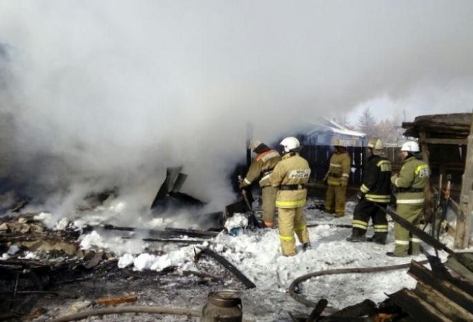 Дедушка ивнучки сгорели вОмской области